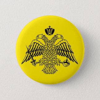 Badge Rond 5 Cm Drapeau grec le mont Athos d'église orthodoxe