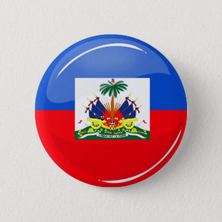 Badge Rond 5 Cm Drapeau haïtien rond brillant