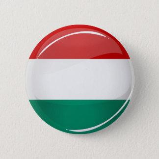 Badge Rond 5 Cm Drapeau hongrois rond brillant