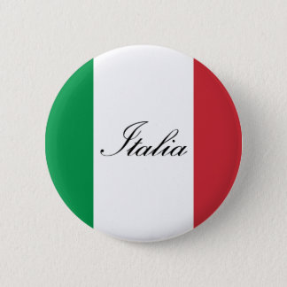 Badge Rond 5 Cm Drapeau italien - drapeau de l'Italie - l'Italie