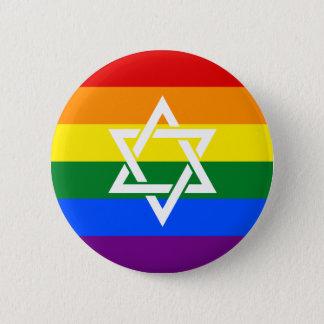 Badge Rond 5 Cm Drapeau juif de fierté