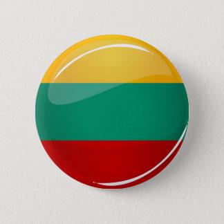 Badge Rond 5 Cm Drapeau lithuanien rond brillant