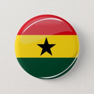 Badge Rond 5 Cm Drapeau rond brillant de Ghanian