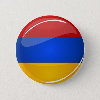 Badge Rond 5 Cm Drapeau rond brillant de l'Arménie