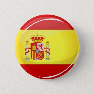 Badge Rond 5 Cm Drapeau rond brillant de l'Espagne