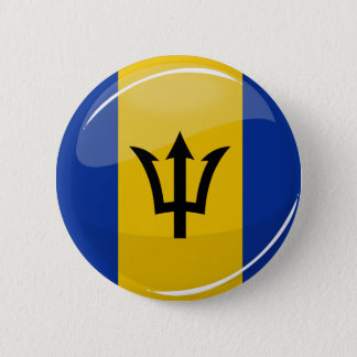 Badge Rond 5 Cm Drapeau rond brillant des Barbade