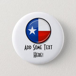 Badge Rond 5 Cm Drapeau rond brillant du Texas