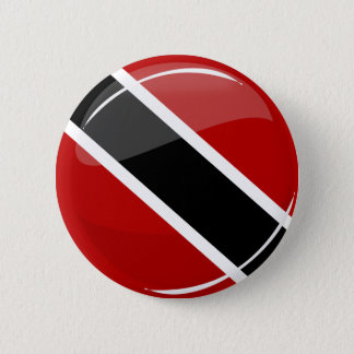 Badge Rond 5 Cm Drapeau rond brillant du Trinidad-et-Tobago