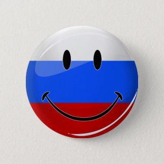 Badge Rond 5 Cm Drapeau russe de sourire