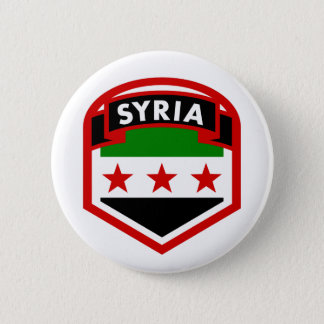 Badge Rond 5 Cm Drapeau syrien