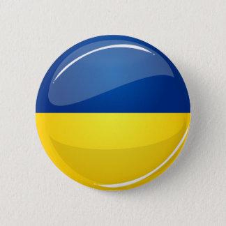 Badge Rond 5 Cm Drapeau ukrainien rond brillant