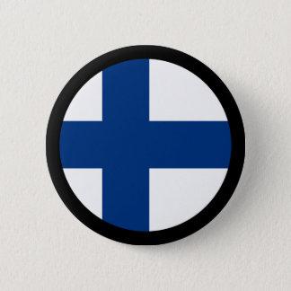 Badge Rond 5 Cm Drapeaux de la Finlande