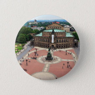 Badge Rond 5 Cm Dresde - opération de Semper