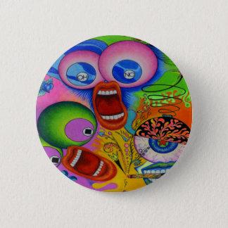 """Badge Rond 5 Cm Dwainizms """"OH NON !"""" Brillant-Coloré autour du"""