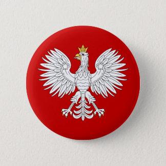 Badge Rond 5 Cm Eagle polonais