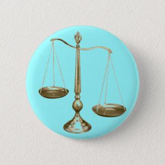 Badge Rond 5 Cm échelles d'or de justice