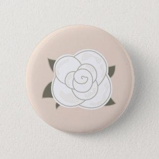 Badge Rond 5 Cm Eco de brun de rose de conception