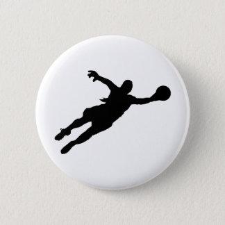 Badge Rond 5 Cm Économies de gardien de but (de femelle)