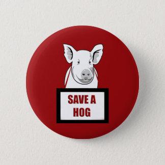 Badge Rond 5 Cm Économies végétariennes de végétalien un porc