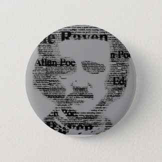 Badge Rond 5 Cm Edgar Allan Poe Bottom