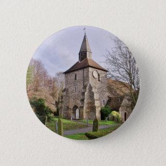 Badge Rond 5 Cm Église de St Stephens en janvier