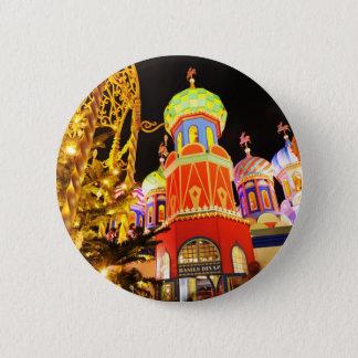 Badge Rond 5 Cm Église russe la nuit