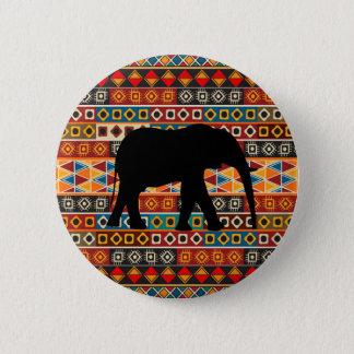 Badge Rond 5 Cm Éléphant décoratif coloré de motif de motif