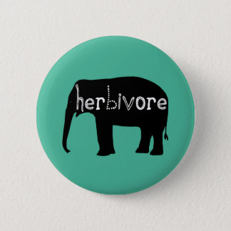 Badge Rond 5 Cm Éléphant - herbivore - bleu