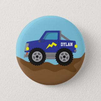 Badge Rond 5 Cm Emballage du bouton personnalisé par garçons bleus