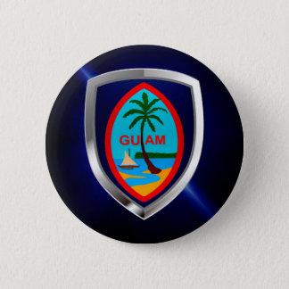 Badge Rond 5 Cm Emblème de la Guam Mettalic
