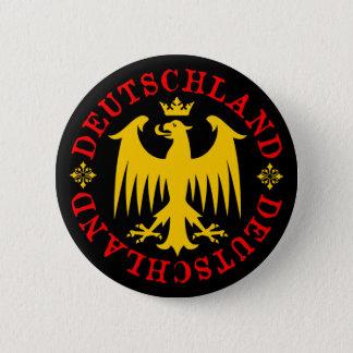 Badge Rond 5 Cm Emblème d'Eagle d'Allemand du Deutschland