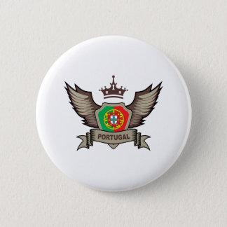 Badge Rond 5 Cm Emblème du Portugal