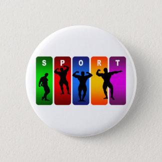 Badge Rond 5 Cm Emblème multicolore de culturisme