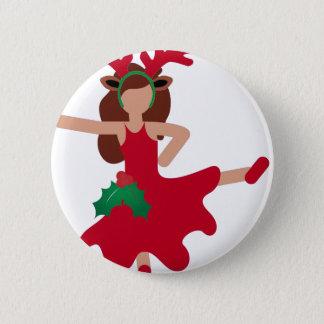 Badge Rond 5 Cm emoji de danseur de flamenco de Noël
