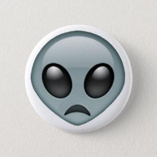 Badge Rond 5 Cm Emoji étranger triste