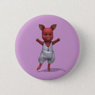 Badge Rond 5 Cm En Pointe de porc de ballet