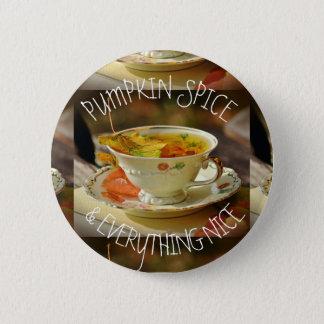 Badge Rond 5 Cm Épice et tout de citrouille Nice Pin d'automne