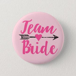 Badge Rond 5 Cm Équipe Bride|Pink