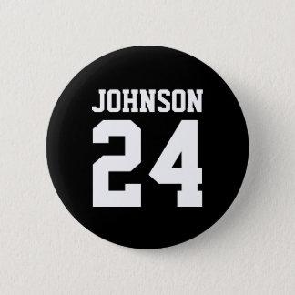 Badge Rond 5 Cm Équipe personnalisée par esprit noir et blanc d'éc