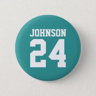 Badge Rond 5 Cm Équipe personnalisée par esprit turquoise d'école