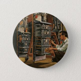 Badge Rond 5 Cm Équipement vintage de fixation de technicien de