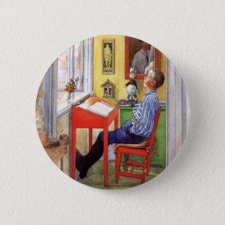 Badge Rond 5 Cm Esbjorn faisant son travail par Carl Larsson