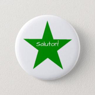 Badge Rond 5 Cm Espéranto : Saluton