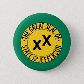Badge Rond 5 Cm État de Jefferson