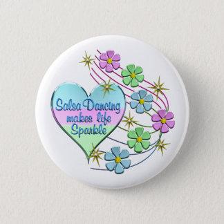 Badge Rond 5 Cm Étincelles de danse de Salsa