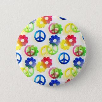 Badge Rond 5 Cm Étincelles hippies super de flower power de signes