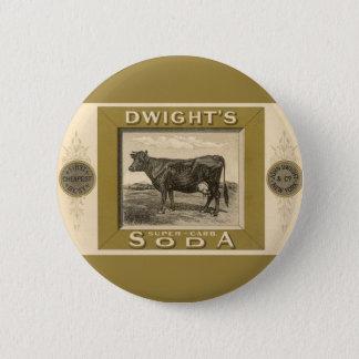 Badge Rond 5 Cm Étiquette vintage de produit, la soude