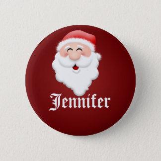 Badge Rond 5 Cm Étiquettes nommées du père noël de fête de Noël