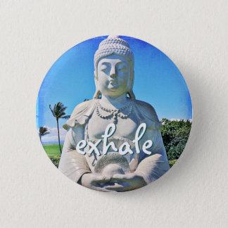 """Badge Rond 5 Cm """"Exhalez"""" le bouton blanc hawaïen de photo de"""