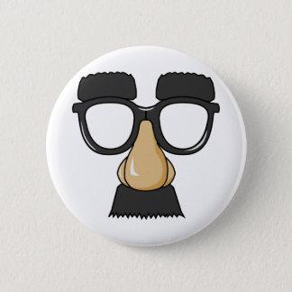 Badge Rond 5 Cm Faux visage de moustache